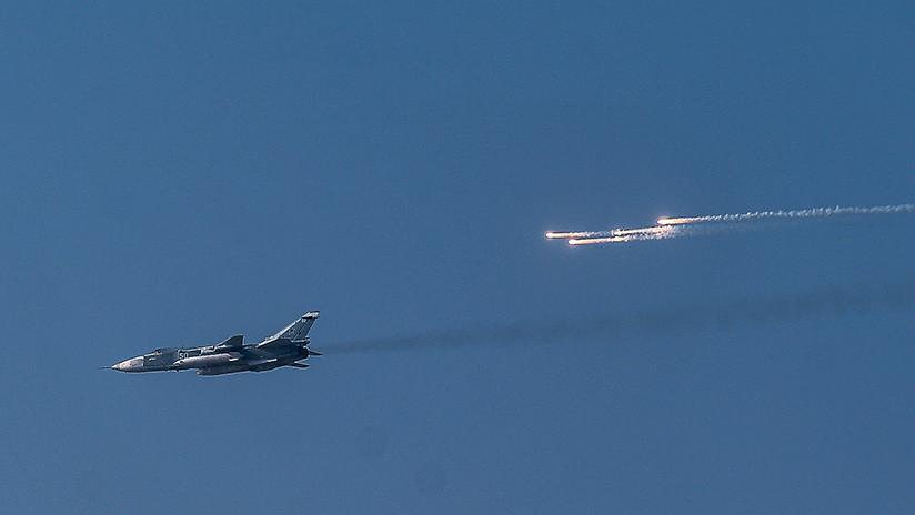 Rebeldes sirios derriban un caza Su-24 del Ejército