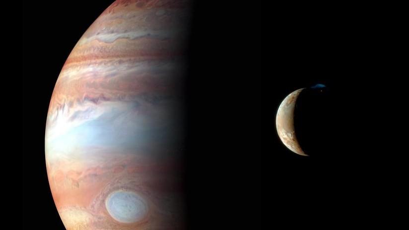 FOTO: La NASA capta una singular tormenta rosada de nubes brillantes en Júpiter
