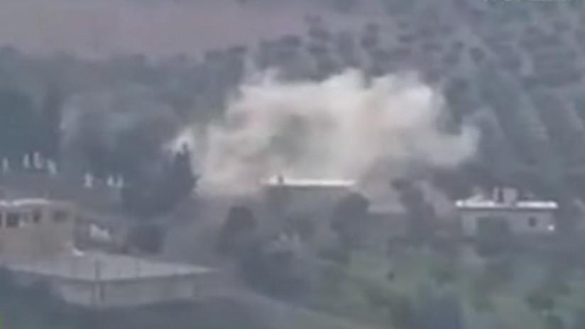 VIDEO: Lanzamiento, vuelo e impacto de un misil guiado contra un vehículo de combate turco