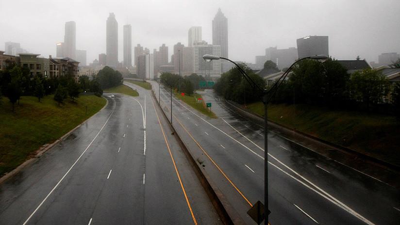 FOTOS: EE.UU. declara amenaza de tornado en Atlanta