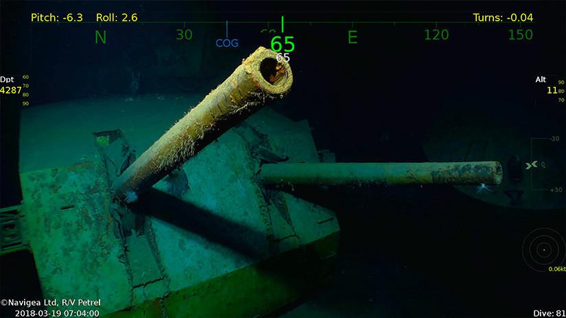 VIDEO: Hallan los restos de un crucero de EE.UU. hundido en la Segunda Guerra Mundial
