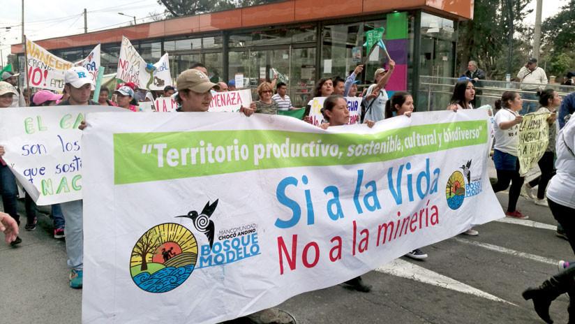 """""""No queremos minería"""": Marcha en Ecuador para pedir el fin de las concesiones"""