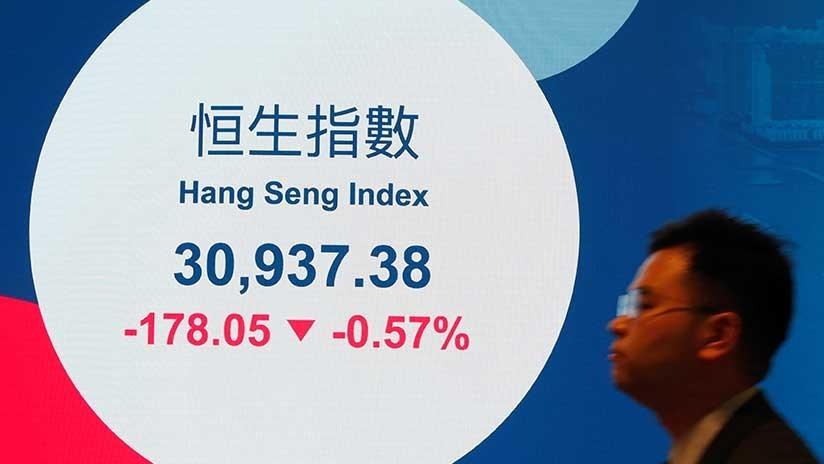Cae el principal índice bursátil chino de Hong Kong tras el anuncio de Trump sobre los aranceles