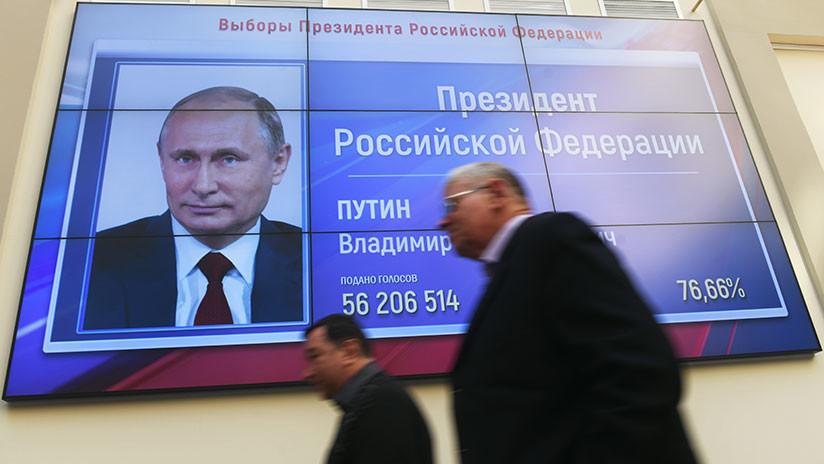Así reaccionó Putin tras su victoria récord en las elecciones presidenciales
