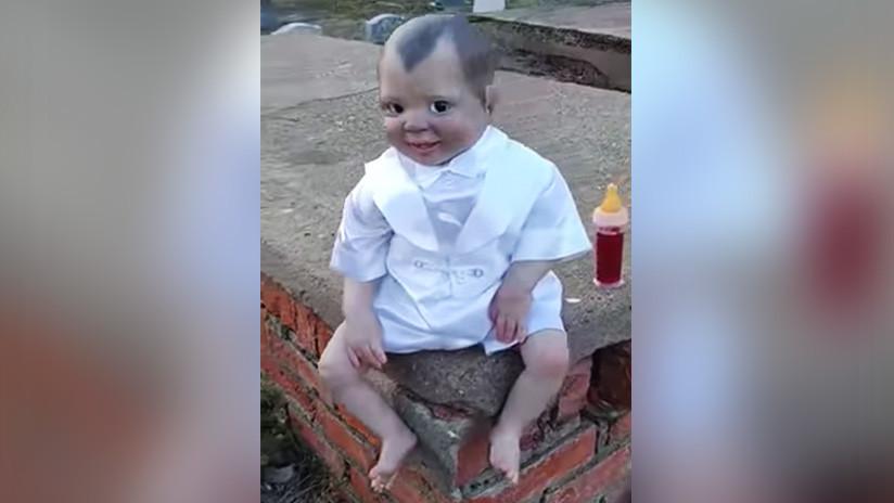 VIDEO: Este 'muñeco diabólico' te persigue con su mirada aterradora