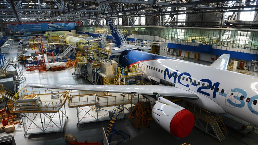 Fabrican en Rusia un segundo avión de pasajeros MS-21