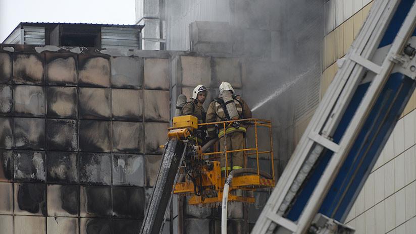 VIDEO: Primeras imágenes del interior del centro comercial en Kémerovo tras el incendio