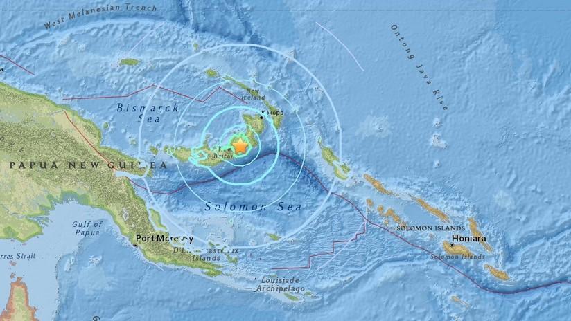 Un fuerte sismo de magnitud 6,6 sacude Papúa Nueva Guinea