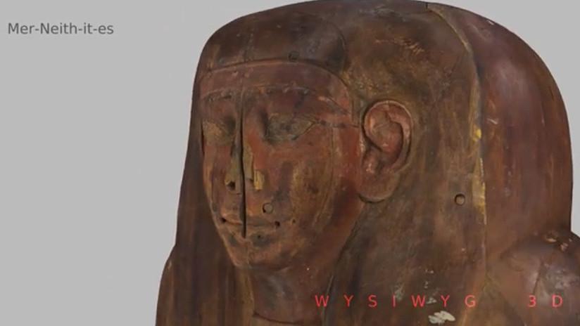 Descubren los restos de una momia de 2.500 años en un ataúd que se creía vacío (VIDEO)