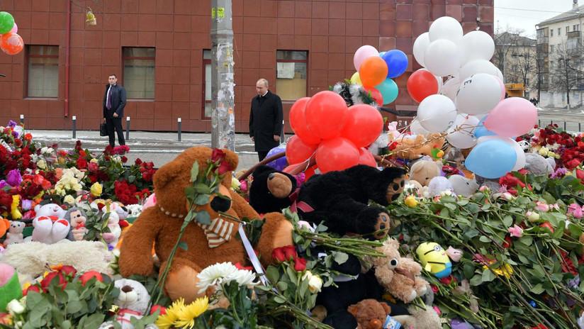 Rusia declara el 28 de marzo día de luto nacional por la tragedia de Kémerovo