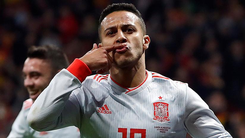 España humilla a Argentina en la jornada de amistosos rumbo al Mundial 2018