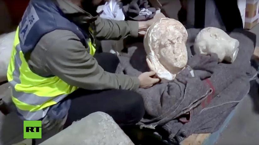 VIDEO: La Policía española recupera piezas de arte robadas en Libia por el Estado Islámico