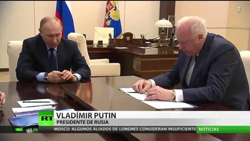 Putin insiste en una investigación transparente del incendio en Kémerovo
