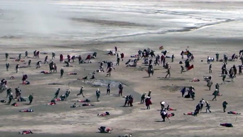 VIDEO: Bolivia recrea una victoria sobre Chile en una batalla para respaldarsu demanda marítima