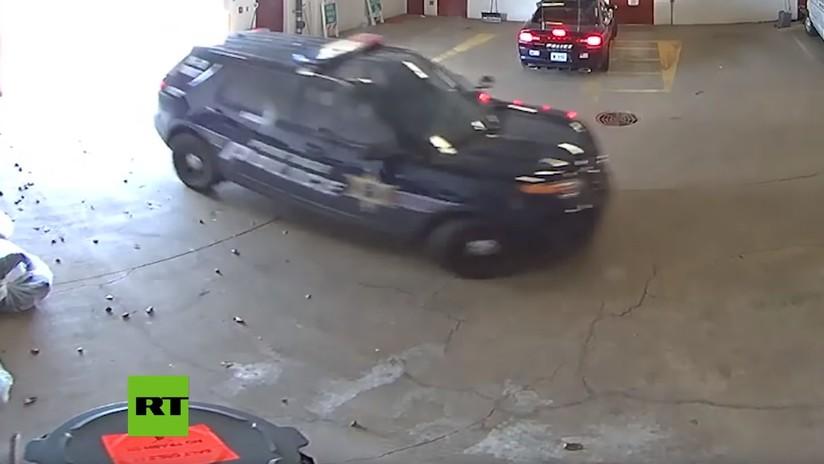 VIDEO: Escapa de una prisión en EE.UU. cuando se cerraba la puerta del garaje