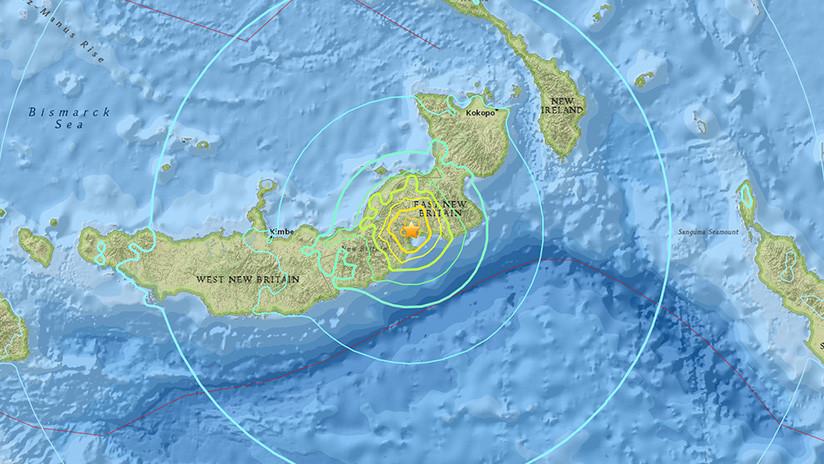 Se registra terremoto de 7.2 grados en Papúa Nueva Guinea