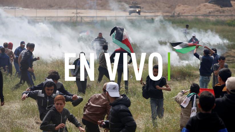 EN VIVO: Miles de palestinos participan en la Gran Marcha del Retorno en la Franja de Gaza