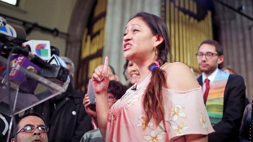 Una guatemalteca se refugia en una iglesia de Nueva York para evitar su deportación