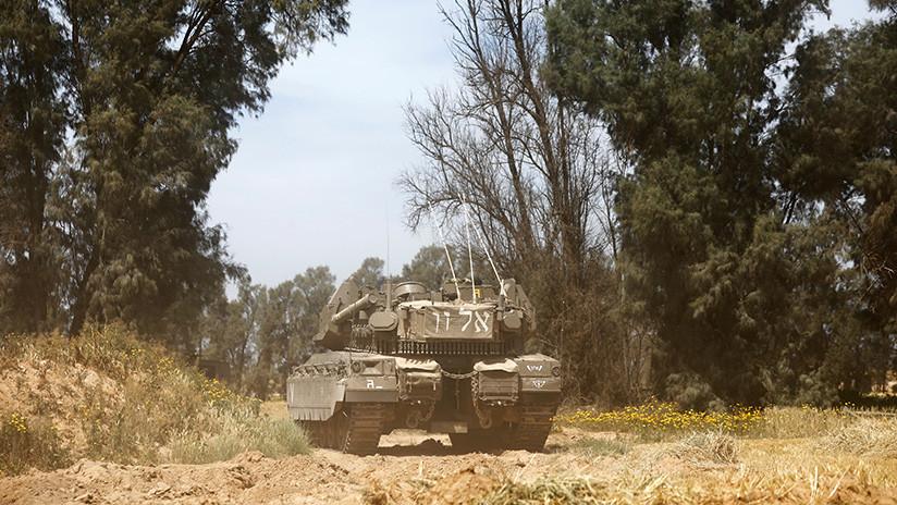 VIDEO: Tanques israelíes disparan contra unos palestinos en la frontera de Gaza