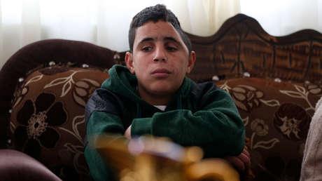 Mohammed Tamimi en su casa familiar, 27 de febrero de 2018.