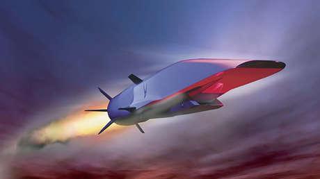 Concepto de un Boeing X-51 durante un vuelo hipersónico. Diseño del Laboratorio de investigación de la Fuerza Aérea de EE.UU.