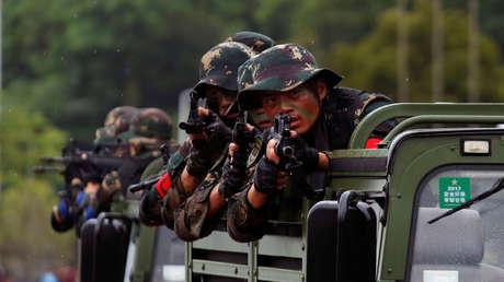 Efectivos de la Armada del Ejército Popular de Liberación chino. Imagen ilustrativa