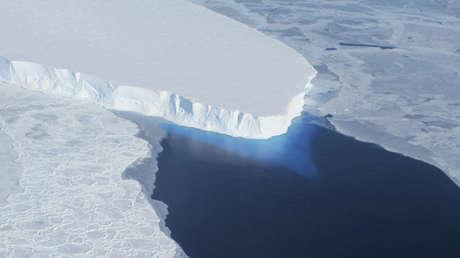 El glaciar Thwaites, ubicado en la Antártida.
