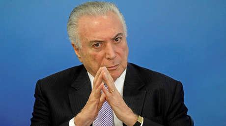 El presidente de Brasil, Michel Temer, 5 de febrero de 2018.