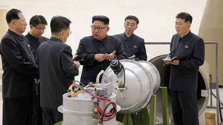 El líder norcoreano Kim Jong-un, el 3 de septiembre de 2017.