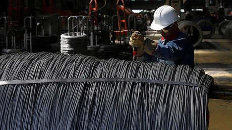 Fábrica de alambre de acero inoxidable en Huamantla (estado de Tlaxcala,  México).