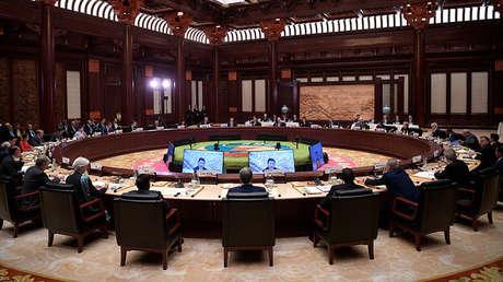 El presidente ruso, Vladímir Putin, participa en el Foro Internacional 'One Belt, One Way' en China, el 15 de mayo de 2017.