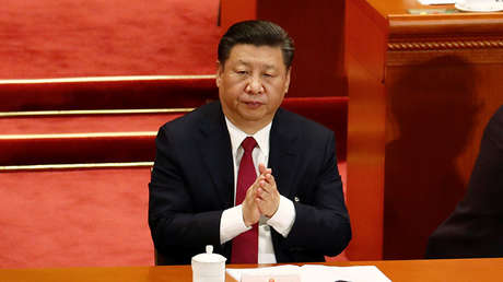 El presidente de Xi Jinping en el Gran Salón del Pueblo en Pekín, el 9 de marzo de 2018.