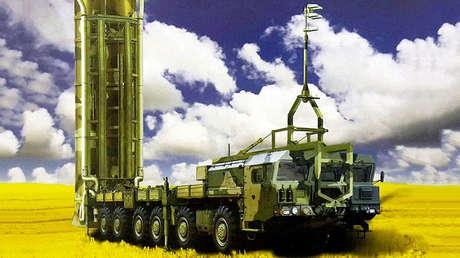 Un sistema S-500 de misiles antiaéreos con capacidad antibalística.