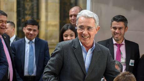 El senador de Colombia Álvaro Uribe durante las elecciones legislativas del 11 de marzo de 2018