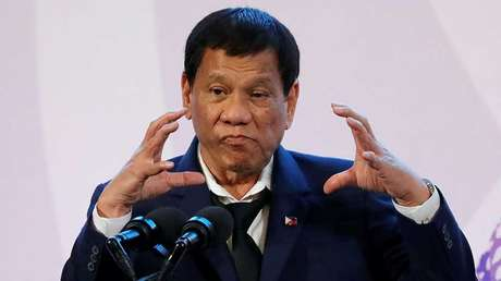 El presidente filipino Rodrigo Duterte.