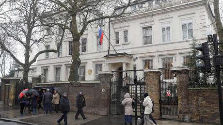 Edificio de la Embajada de Rusia en Londres.