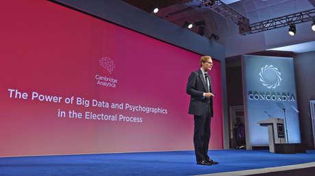 Alexander Nix, presidente de Cambridge Analytica, durante la cumbre Concordia. Nueva York, 19 de septiembre de 2016.