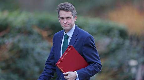 El Secretario de Defensa británico Gavin Williamson en Londres el 8 de febrero de 2018.