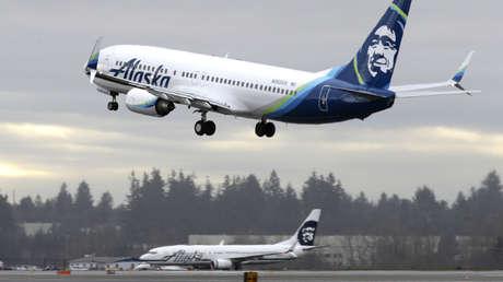 Un avión de Alaska Airlines.