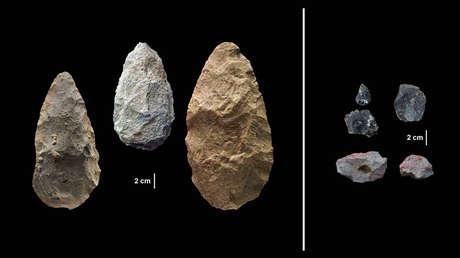 Artefactos encontrados en la cuenca Olorgesailie del sur de Kenia.