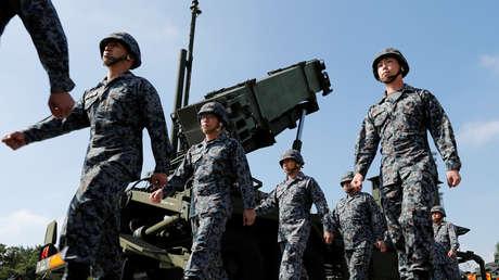 Soldados de las Fuerzas de Autodefensa de Japón.