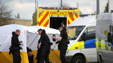 Policías en Salisbury, Reino Unido