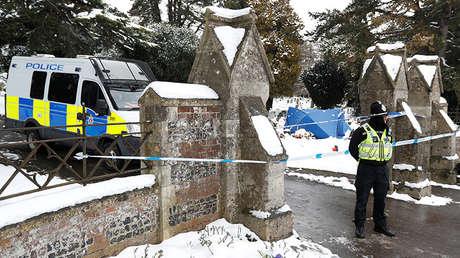 El cementerio London Road, donde se encuentra la tumba de Alexánder Skripal, hijo de Serguéi Skripal, en Salisbury (Reino Unido), el 19 de marzo de 2018.