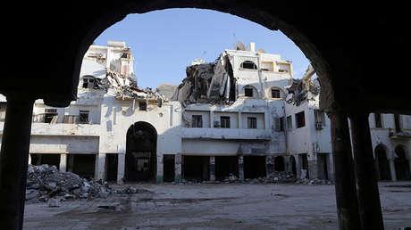Un edificio histórico arruinado en Bengasi (Libia), el 28 de febrero de 2018.