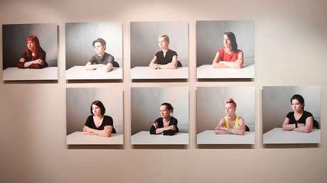 Trabajos de los finalistas del Concurso Internacional de Fotoperiodismo Andréi Stenin en el Centro de fotografía Hermanos Lumière en Moscú, el 7 de septiembre de 2017.