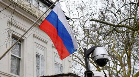 La Embajada de Rusia en Londres, el 20 de marzo de 2018.