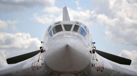 Un bombardero estratégico Tu-160 en Zhukovski, el 19 de julio de 2017.