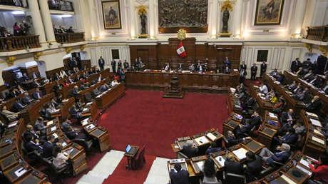 El Congreso peruano debate sobre la destitución del presidente Pedro Pablo Kuczynski. 21 de diciembre de 2017.