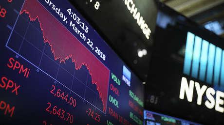 Bolsa de Nueva York, el 22 de marzo de 2018.