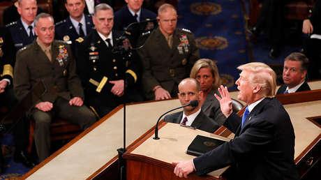 Donald Trump en el Congreso, el 30 de enero de 2018.